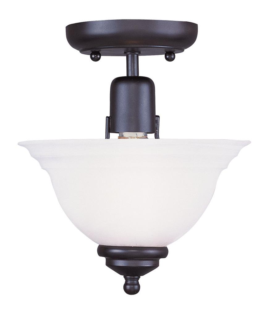 Livex Lighting 4255-01 North Port 5 Light Antique Brass Chandelier with White Alabaster Glass